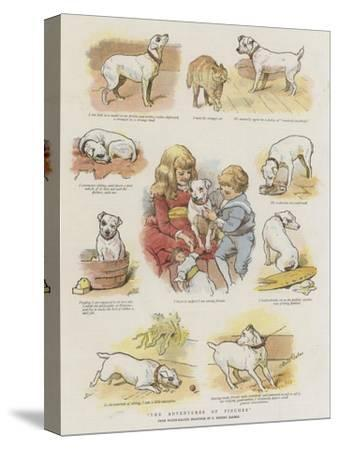 The Adventures of Pincher-Charles Burton Barber-Stretched Canvas Print