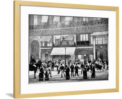 The Boulevards of Paris-Charles Castellani-Framed Giclee Print