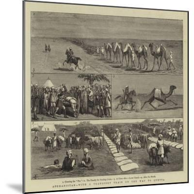 Afghanistan, with a Transport Train on the Way to Quetta-Charles Edwin Fripp-Mounted Giclee Print