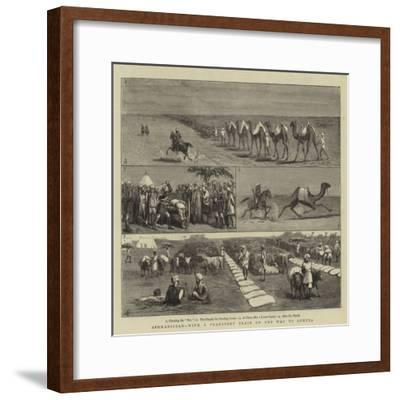 Afghanistan, with a Transport Train on the Way to Quetta-Charles Edwin Fripp-Framed Giclee Print