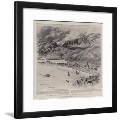 To Klondyke and Back, an Old Russian Village in Alaska-Charles Edwin Fripp-Framed Giclee Print