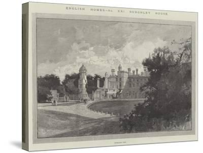 Burghley House-Charles Auguste Loye-Stretched Canvas Print