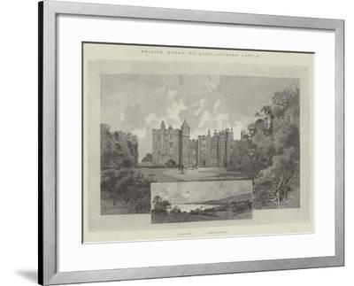 Dunster Castle-Charles Auguste Loye-Framed Giclee Print