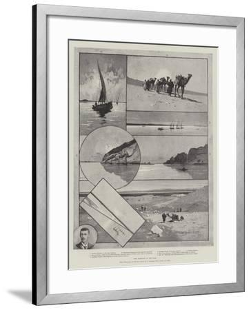 The Barrage of the Nile-Charles Auguste Loye-Framed Giclee Print