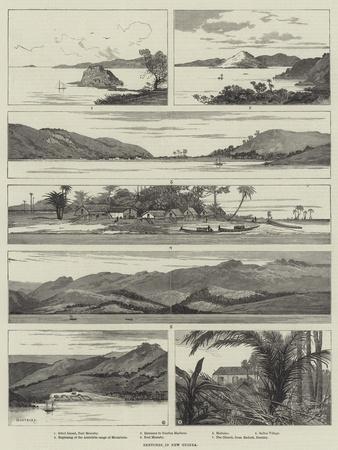Sketches in New Guinea-Charles Auguste Loye-Framed Giclee Print