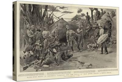 Hard-Won Booty in Rhodesia, Carrying Off the Spoils of War after Taking a Kopje Kraal-Charles Edwin Fripp-Stretched Canvas Print