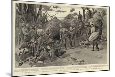 Hard-Won Booty in Rhodesia, Carrying Off the Spoils of War after Taking a Kopje Kraal-Charles Edwin Fripp-Mounted Giclee Print