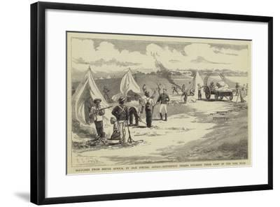 Sketches from South Africa, Hottentot Troops Pitching their Camp in the Peri Bush-Charles Edwin Fripp-Framed Giclee Print