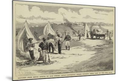 Sketches from South Africa, Hottentot Troops Pitching their Camp in the Peri Bush-Charles Edwin Fripp-Mounted Giclee Print