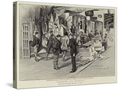 Preparing for Klondyke-Charles Edwin Fripp-Stretched Canvas Print