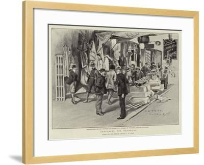 Preparing for Klondyke-Charles Edwin Fripp-Framed Giclee Print