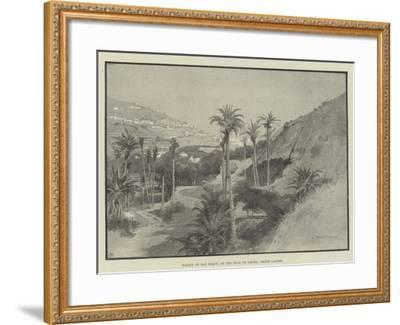 Valley of San Roque, on the Road to Tafira, Grand Canary-Charles Auguste Loye-Framed Giclee Print