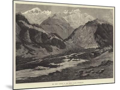 The Great Landslip at Elm, Canton Glarus, Switzerland-Charles Auguste Loye-Mounted Giclee Print