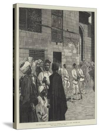 The Crisis in Egypt, a Guard-House of Soldiers of the Line in Cairo-Charles Auguste Loye-Stretched Canvas Print