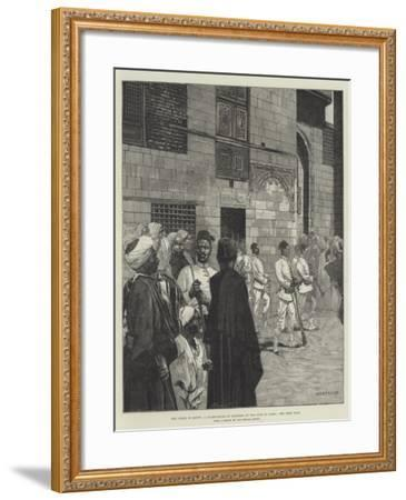 The Crisis in Egypt, a Guard-House of Soldiers of the Line in Cairo-Charles Auguste Loye-Framed Giclee Print