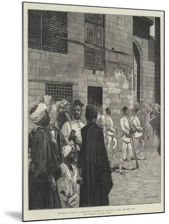 The Crisis in Egypt, a Guard-House of Soldiers of the Line in Cairo-Charles Auguste Loye-Mounted Giclee Print