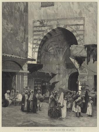 In the Khan El-Khalily at Cairo, Egyptian Traders from the Red Sea-Charles Auguste Loye-Framed Giclee Print