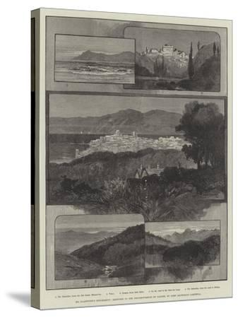 Mr Gladstone's Retirement, Sketches in the Neighbourhood of Cannes-Charles Auguste Loye-Stretched Canvas Print