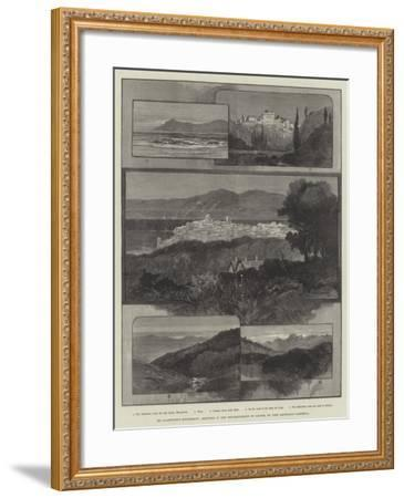 Mr Gladstone's Retirement, Sketches in the Neighbourhood of Cannes-Charles Auguste Loye-Framed Giclee Print