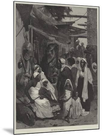 The Bazaar at Assouan-Charles Auguste Loye-Mounted Giclee Print