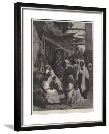 The Bazaar at Assouan-Charles Auguste Loye-Framed Giclee Print