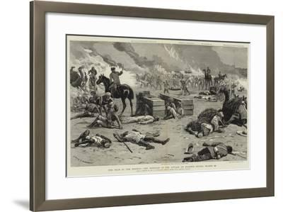 The War in the Soudan, the Repulse of the Attack on Baker's Zeriba, 22 March-Charles Edwin Fripp-Framed Giclee Print