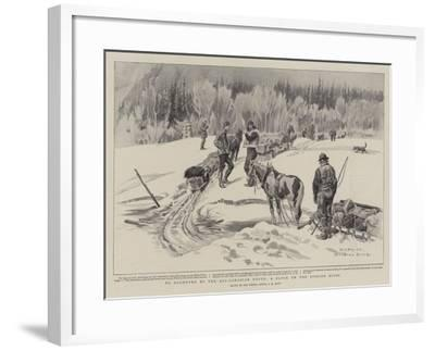 To Klondyke by the All-Canadian Route, a Block on the Stikine River-Charles Edwin Fripp-Framed Giclee Print