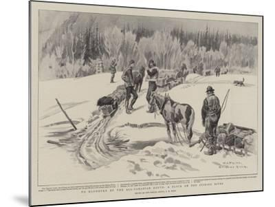 To Klondyke by the All-Canadian Route, a Block on the Stikine River-Charles Edwin Fripp-Mounted Giclee Print