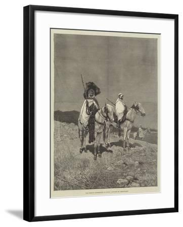 The French Expedition to Tunis, Outpost of Irregulars-Charles Auguste Loye-Framed Giclee Print