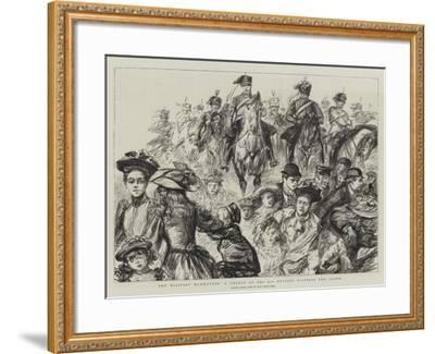 The Military Manoeuvres, a Charge of the 8th Hussars Scatters the Crowd-Charles Paul Renouard-Framed Giclee Print