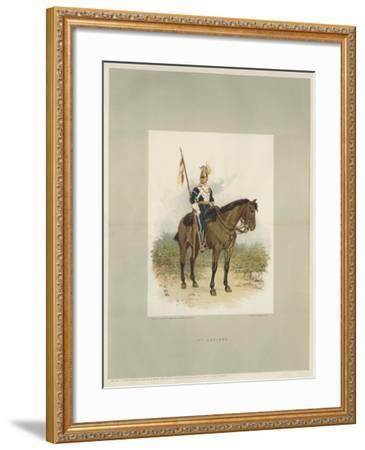 17th Lancers, a Trooper in Review Order-Charles Green-Framed Giclee Print
