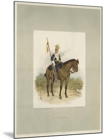 17th Lancers, a Trooper in Review Order-Charles Green-Mounted Giclee Print