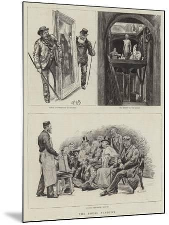 The Royal Academy-Charles Paul Renouard-Mounted Giclee Print