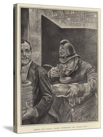 Behind the Scenes, Robert Intercepts the Turtle Soup-Charles Paul Renouard-Stretched Canvas Print