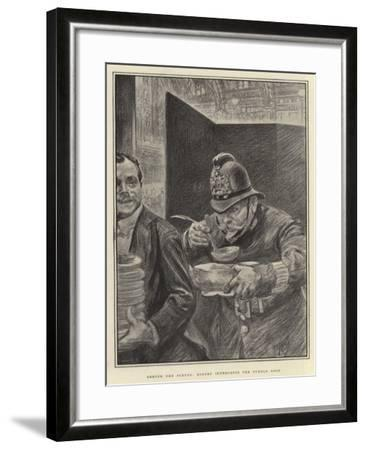 Behind the Scenes, Robert Intercepts the Turtle Soup-Charles Paul Renouard-Framed Giclee Print