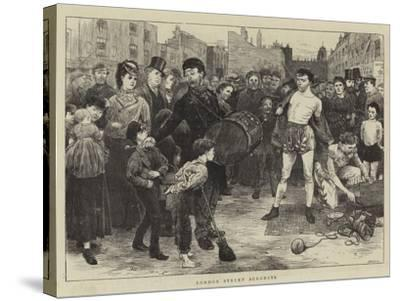 London Street Acrobats-Charles Green-Stretched Canvas Print
