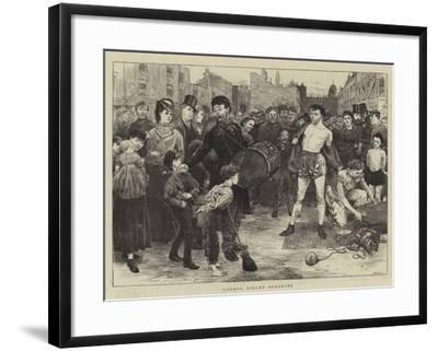 London Street Acrobats-Charles Green-Framed Giclee Print