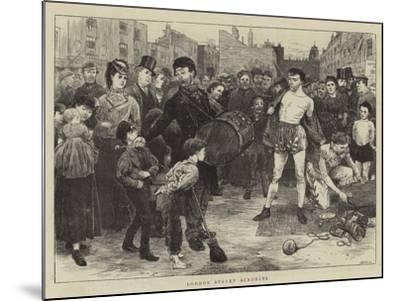 London Street Acrobats-Charles Green-Mounted Giclee Print