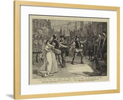 Scene from Signor Tito Mattei's New Opera, Maria Di Gand, at Her Majesty's Theatre-Charles Joseph Staniland-Framed Giclee Print