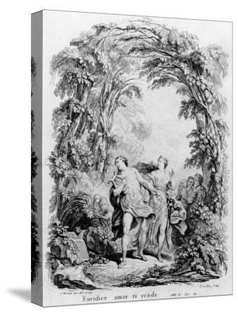 Orpheus Leading Eurydice Out of Hell for the Opera 'Orpheus and Eurydice' by Christoph Von Gluck (1-Charles Monnet-Stretched Canvas Print