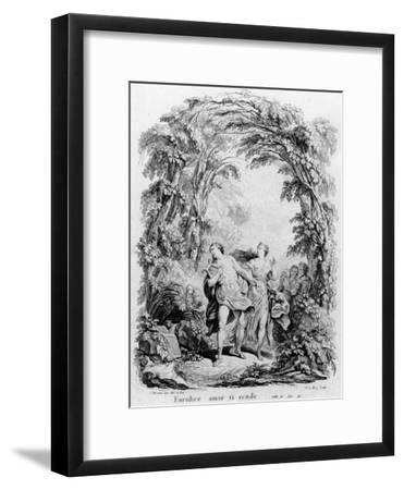 Orpheus Leading Eurydice Out of Hell for the Opera 'Orpheus and Eurydice' by Christoph Von Gluck (1-Charles Monnet-Framed Giclee Print