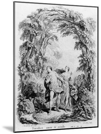 Orpheus Leading Eurydice Out of Hell for the Opera 'Orpheus and Eurydice' by Christoph Von Gluck (1-Charles Monnet-Mounted Giclee Print