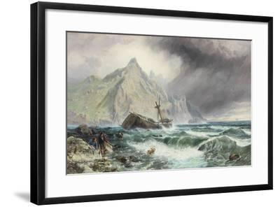 Wreck of a Frigate on the Southern Coast of Spain, 1863-Charles Napier Hemy-Framed Giclee Print