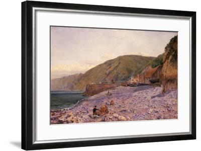 Among the Shingle at Clovelly, 1864-Charles Napier Hemy-Framed Giclee Print