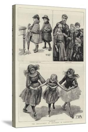 The Employment of Children in Pantomimes-Charles Paul Renouard-Stretched Canvas Print