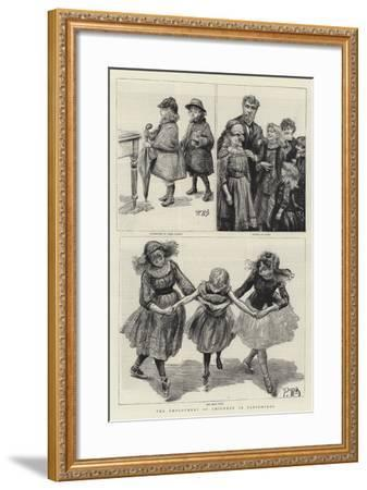 The Employment of Children in Pantomimes-Charles Paul Renouard-Framed Giclee Print
