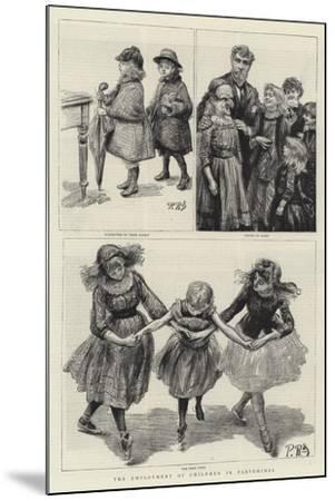 The Employment of Children in Pantomimes-Charles Paul Renouard-Mounted Giclee Print