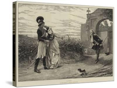 Caught!-Charles Joseph Staniland-Stretched Canvas Print