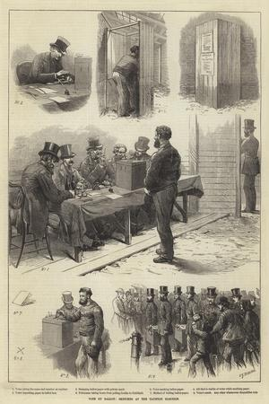 Vote by Ballot, Sketches at the Taunton Election-Charles Joseph Staniland-Stretched Canvas Print
