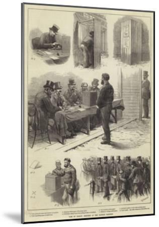 Vote by Ballot, Sketches at the Taunton Election-Charles Joseph Staniland-Mounted Giclee Print